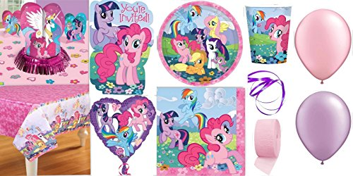 Best Review Of My Little Pony Party Supplies for 16 Guests This Ultimate Party Pack Includes Invitat...