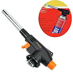 Butane Gas Blow Torch Auto Ignition Outdoor Welding BBQ Tool Burner Flamethrower