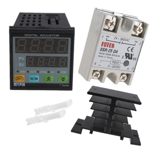 image 174 25a ssr 25da solid state relay with heat sink manual auto tuning pid temperature