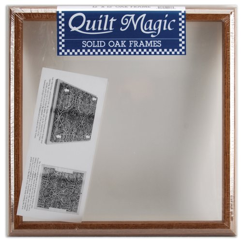 Quilt Magic 12-Inch by 12-Inch Oak Frame