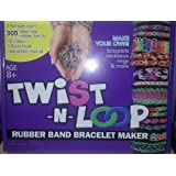 Twist n Loop Rubber Band Bracelet Maker Loom Set [Full Size Loom + Latex Free Rubber bands]
