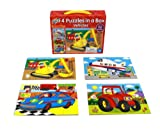 Galt Toys Inc Vehicles in a Box Puzzle, 4-Piece