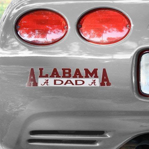 NCAA Alabama Crimson Tide Dad Automobile Decal