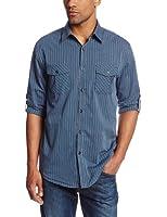 Axist Men's Long Sleeve Tonal Stripe Woven Shirt