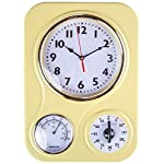 Retro Kitchen Clock With Temperature and Timer. By Lily's Home