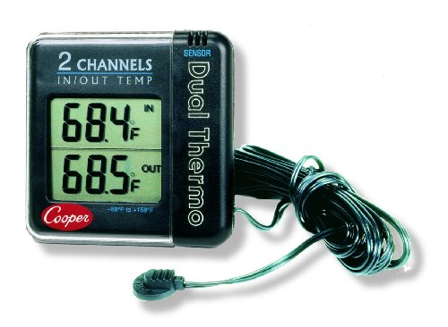 Cooper-Atkins Io70-0-8 Digital Indoor/Outdoor Wall Thermometer With Large Lcd, -58/158° F Temperature Range
