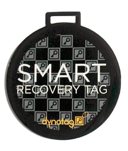Dynotag® Web/Gps Enabled Qr Smart Deluxe Steel Luggage Tag & Braided Steel Loop