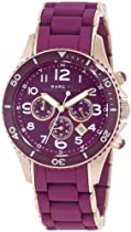 Marc by Marc Jacobs Gold Ladies Rock Watch with Purple Silicone Band MBM2576