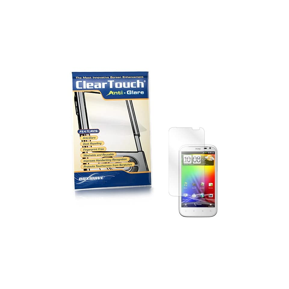 BoxWave HTC Sensation XL ClearTouch Anti Glare Screen Protector   Premium Quality Anti Glare, Anti Fingerprint Matte Film Skin to Shield Against Scratches (Includes Lint Free Cleaning Cloth and Applicator Card)   HTC Sensation XL Screen Guards