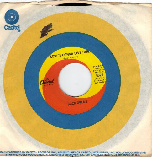 OWENS, Buck/Love's Gonna Live Here/45rpm Record