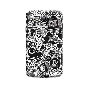 Desicase Samsung Grand Retro News 3D Matte Finishing Printed Designer Hard Back Case Cover (Multicolor)