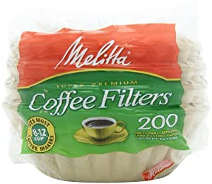 Melitta Basket Coffee Filters, Natural Brown (8 to 12-Cup), 200-Count Filters (Pack of 8) by Melitta