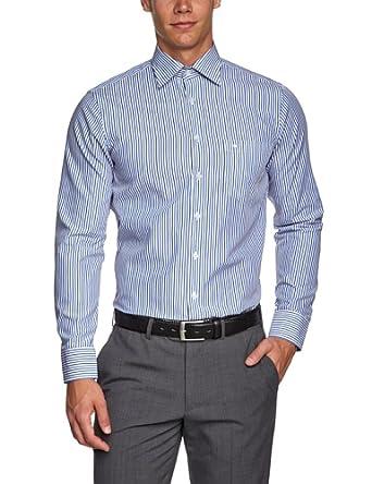 Seidensticker Herren Businesshemd Regular Fit 185136, Gr. 38, Blau (15 blau)