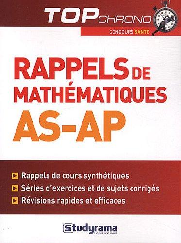Rappels de mathématiques AS-AP