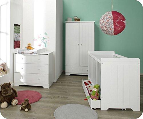 Babyzimmer komplett Oslo weiß mit Wickelfläche jetzt kaufen