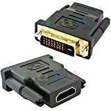 Gold Plated hdmi female to dvi male adapter converter (24+1 Pin DVI to 19 Pin HDMI Converter adatper) - pjp electronics®