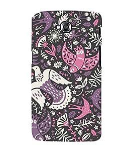 colourful birds in black background ethnic pattern 3D Hard Polycarbonate Designer Back Case Cover for LG GPro Lite :: LG G Pro Lite Dual D686