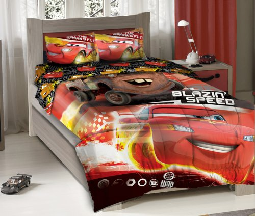 disney pixar cars blazing speeding duo bedding comforter set with