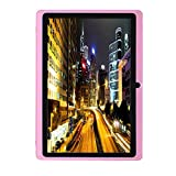 7Inches Tablet PC HD Touchscreen Mic WIFI Android 4.4 Octa Core Quad Core Tablet PC 8GB Dual Camera Wifi ,Support Games, Skype ,MSN ,Facebook, Twitter, etc (Pink)