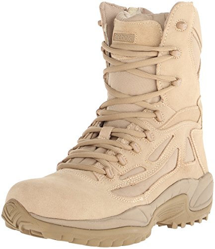 Reebok Military Rapid Response 8in Side Zip Military Boots Tan