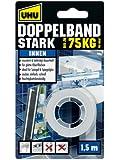 Uhu 46855 Doppelband Stark bis zu 75 kg, 1.5 m x 19 mm,