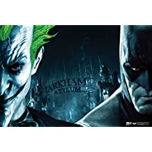 Hungover Batman And Joker Poster Arkham Asylum Artwork Special Paper Poster (13x19 Inches)