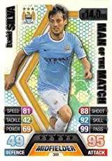 Match Attax 2013/2014 David Silva Manchester City 13/14 Man Of The Match