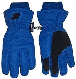 N\'Ice Caps Kids Bulky Thinsulate and Waterproof Ski Glove With Ridges (6-8yrs, Royal)