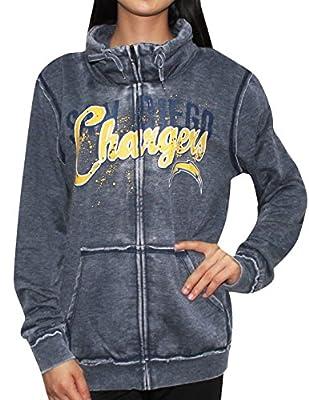 Womens SAN DIEGO CHARGERS Athletic Zip-Up Jacket (Vintage Look)