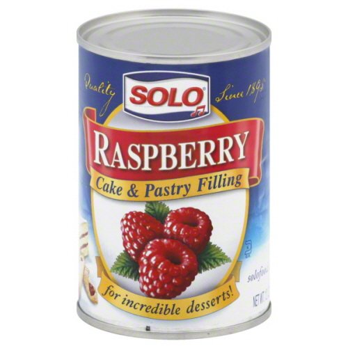 Solo, Raspberry Filling, 12oz Can (Pack of 6)