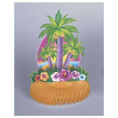 Luau Tropical Island Table Centerpiece - 1