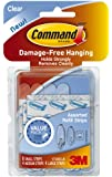 Command Assorted Refill Strips, Clear, 8-Small Strip, 4-Medium Strip, 4-Large Strip