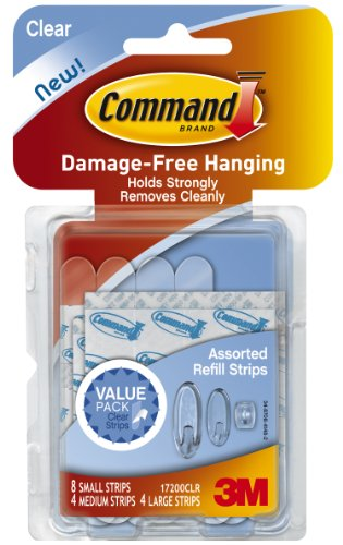 Command Assorted Refill Strips 0051141347073
