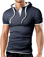 Grin&Bear Men's Hooded Polo Shirt