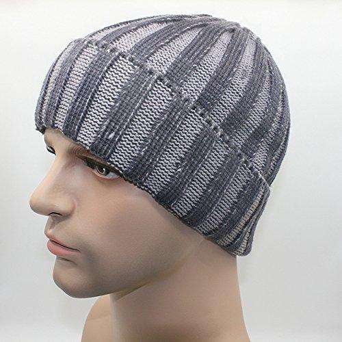 MEICHEN-di due strisce di colore cappello di lana autunno/inverno moda per uomini e donne al di fuori caldo knit hat cappello a forma di anguria ski Hat,cenere e calce