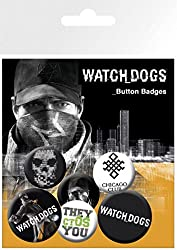 Watch Dogs Badge Pack - Chicago Club, 4 X 25mm & 2 X 32mm Badges (6 x 4 inches) from 1art1®