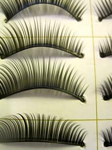 Taobaopit 10 Pair Natural Long Black False Eyelashes