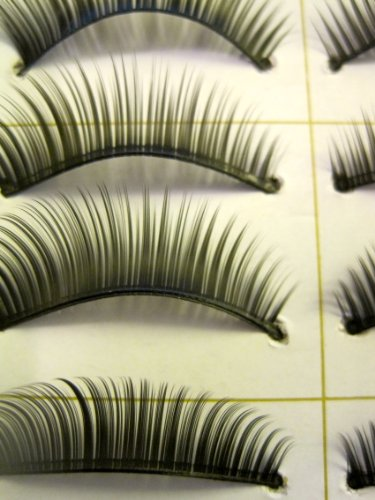Taobaopit 10 Pair Natural Long Black False Eyelashes