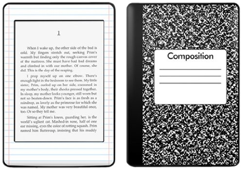 Kindle Paperwhite Decal/Skin Kit, Composition Notebook