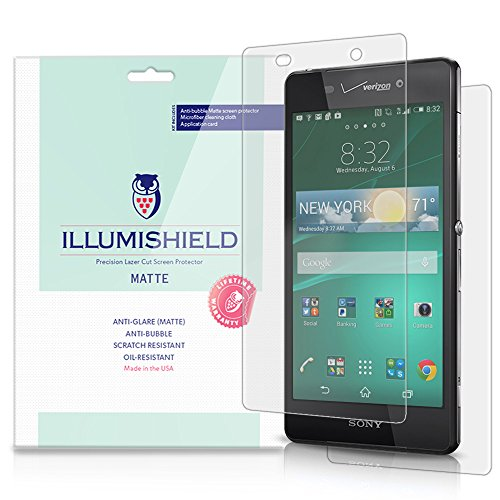 Illumishield - Sony Xperia Z3V Matte Screen Protector & Full Body Skin With Lifetime Replacement Warranty / Anti-Glare Hd Front & Back Clear Film / Anti-Bubble & Anti-Fingerprint / Premium Japanese High Definition Invisible Crystal Shield - [3-Pack] Retai