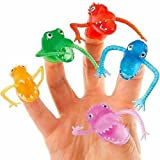 German Trendseller® - 8 x Fingerpuppen Monster ┃ Gummi Monster ┃ für Kinder ┃ Monster Party ┃ Ideal zum Kindergeburtstag ┃ Kinder lieben diese gruselige Monstertruppe!