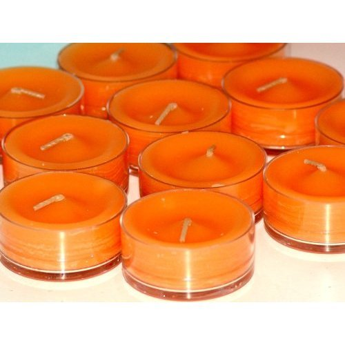 PartyLite Tealight Candles : Mango Tangerine 1 Dozen (12 scented candle)