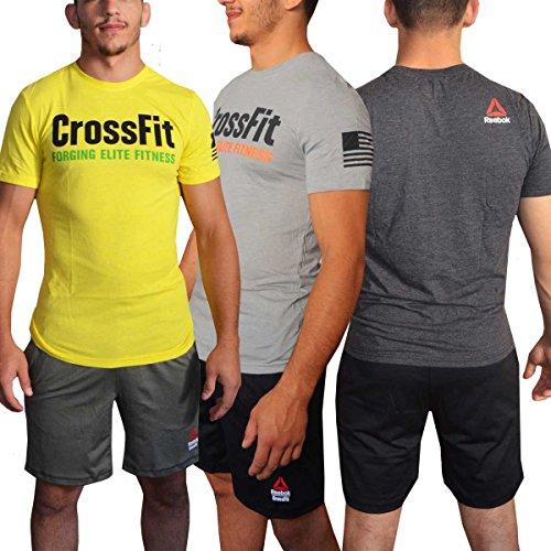 Reebok - T-Shirt Crossfit Forging Elite Da Fitness Per Uomo, Colore Nero, Taglia M