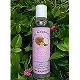 Organic Coconut Haven Organic Virgin Coconut Oil Pure-Cold Pressed 6oz. Plumeria Scent For Skin & Hair