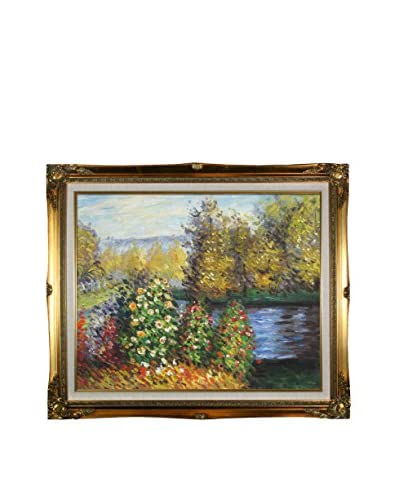 Claude Monet Corner Of The Garden At Montgeron Framed Hand-Painted Oil Reproduction