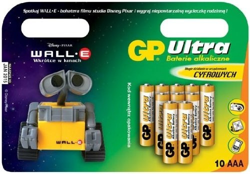 Pile CIPA GP 10AAA Ultra + WALL.E
