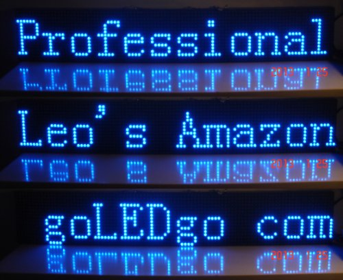 """Goledgocom Led Sign, Blue Color Moving Message Banner, Scrolling Message Sign, Led Banner, Led Display, Messager Billboard,Size:38""""X6.5""""X1.3"""",Portable Ultra Thin And Light, Business Tools,Live Programmable Messager Board, Usb Disk Control,Plug And Play,(+"""