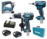 Makita 18V LXT Li Ion DK18000 Kit BHP458, BTD140 & BST221 BST221Z BST221Rfe Stapler