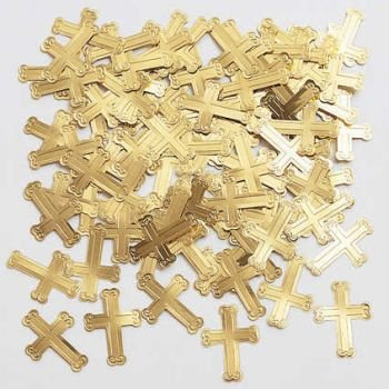 Cross Gold Confetti