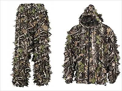 SwedTeam Super Natural 3D Camouflage Leafy Hunting Suit Youth Kids Jacket Pants Hood
